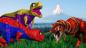 spider dinosaurs for kids tyrannosaurus rex vs t rex funny spider