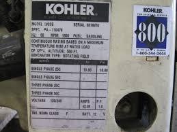 kohler commercial 10kw generator low speed full load test 1432 ebay