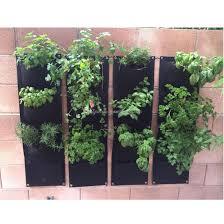2017 4 pockets vertical garden wall greening wall flowerpot