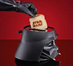 Logo Toaster This Star Wars Darth Vader Toaster Toasts The Star Wars Logo Onto