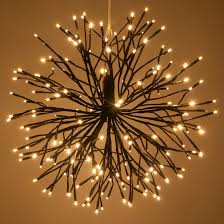 starburst lighted branches with warm white led twinkle lights 1 pc