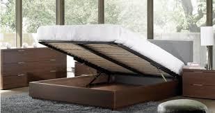 bedroom queen platform bed with storage and headboard regarding