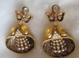 danglers earrings design buy gold tone pearl shell design dangler design earrings online