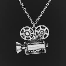 antique necklace chain images Fashion antique movie camera pendant fashion jewelry dome jpg
