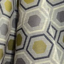 Wool Drapery Fabric Edgerly Graphite Contemporary Geometric Upholstery Grey Fabric