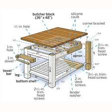 Small Butcher Block Kitchen Island Diy Butcher Block Kitchen Island Perfect For Small Kitchen
