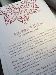 hindu wedding program downloadable hindu wedding program