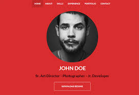 Resume Template Website 30 Best Resume U0026 Cv Html Templates 2016 Designmaz