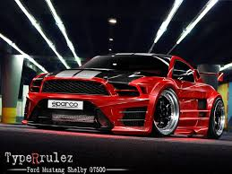 Ford Mustang Shelby Gt500 Black Custom Red And Black Rims Custom Red And Black Ford Mustang