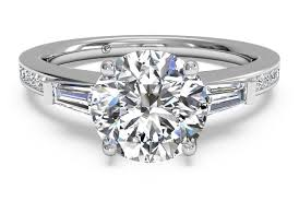 baguette diamond band cut tapered baguette diamond band engagement ring in