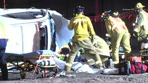 woman killed 3 others critical in rollover near south la south
