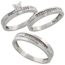 his and wedding ring set trio ring sets