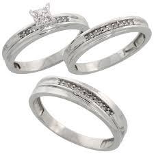 wedding trio sets trio ring sets