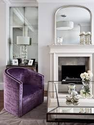 Purple Accent Chair Purple Accent Chair Living Room Eclectic With Crystals