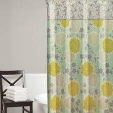 Cynthia Rowley Curtain Cynthia Rowley Spring Floral Flowers Fabric Shower Curtain