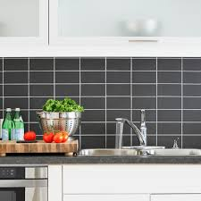 stacked kitchen backsplash kitchen with backsplash of black subway tiles stacked white grout