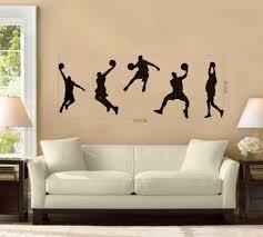 basketball wall murals destroybmx com basketball players nba games vinyl removable wall stickers home decals sport art mural decor art for