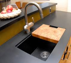 black countertop with black sink richlite blackdiamond kitchen countertop and sink designed by