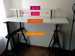 bureau plan de travail ikea mon bureau assis debout standing desk pour moins de 110