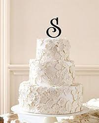 letter wedding cake toppers initial cake topper wedding cake topper custom wedding