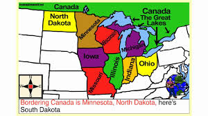 Midwest United States Map by Mid Western U S A Geography Song Youtube