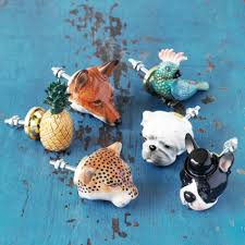 painted ceramic animal knobs love pinterest painted