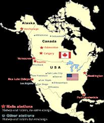united states of america map with alaska and hawaii map usa canada alaska major tourist attractions maps