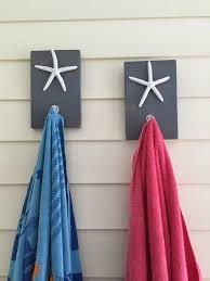 starfish towel starfish towel hooks towel rack set of 2 pool от peavypieces