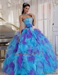 quinceanera dresses blue and purple puffy 2016 2017 b2b fashion