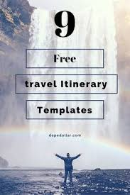 Free Travel Itinerary Template Excel Get A Free Travel Itinerary Template To Manage Travels Here