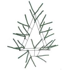 Christmas Tree Wreath Form - pencil open wall tree color evergreen size 20