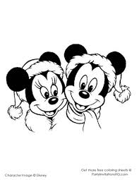 mickey and minnie drawing on hand print mickey mouse coloring
