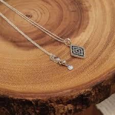 pandora necklace with charm images Pandora jewelry geometric lines necklace pendant clear cz poshmark jpg