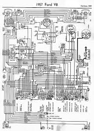 1957 ford fairlane 500 wiring diagram and electrical system schematic