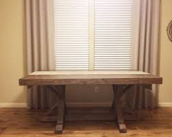Rustic Wood Dining Room Table by Rustic Dining Table Etsy