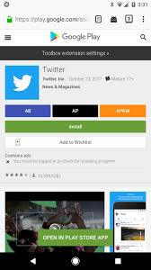 toolbox for google play store u0027 our web browser extension adds