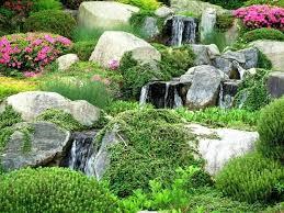 Rock Garden With Water Feature Rock Landscaping Ideas Backyard A Water Feature Alongside