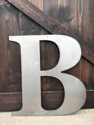 Letters Home Decor 24 Metal Letters U0026 Numbers Large Monograms Rustic Letters
