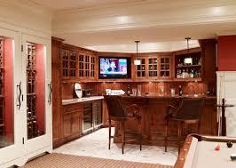 Basement Chair Rail - locking liquor cabinet home bar traditional with bar built ins