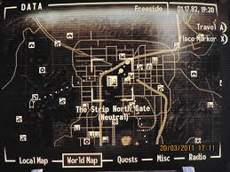Las Vegas Strip Casino Map by My Fallout New Vegas Tour Planning The Trip Making Sense Of The Map