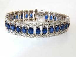 diamond bracelet cuff images 33 75ct natural gem sapphire diamond bracelet 3 row wide cuff JPG