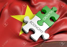 Flag Financial Vietnam Economy And Financial Market Growth Concept 3d Rendering