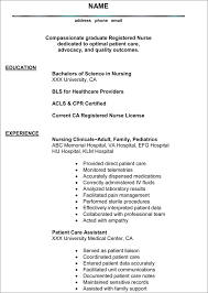 Resume Templates For Nursing Students Grad Nursing Resume Professional Grad Rn Resume