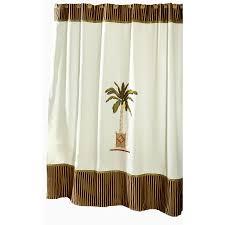 Brown Floral Shower Curtain Shop Avanti Banana Palm Polyester Banana Palm Floral Shower