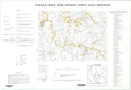 Gold Line Map Sofala Hill End Stuart Town Gold Deposits Map 1 250 000 Scale