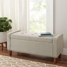 Contemporary Upholstered Bench Better Homes And Gardens Flynn Mid Century Modern Upholstered