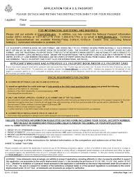 application for us passport u2013 the township of belleville nj
