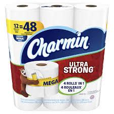 charmin ultra strong toilet paper 12 mega rolls meijer com