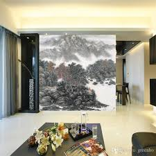 wide wallpaper home decor vintage chinese style landscape painting photo wallpaper art wall