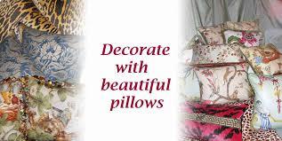 Designer Pillows Silk Drapes And Designer Pillows